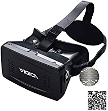 VIGICA Virtual Reality Headset iMax 3D Video Glasses Plastic Version with Magnet Controller for 3D Movies Games 3.5-6 inch Iphone Samsung HTC Cellphones Prime Day Deals
