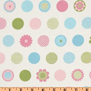 42'' Wide Cozy Cotton Flannel Motif Dots Pastel Fabric By The Yard