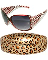 Womens Designer Sunglasses With Rhinestones Shades Block 100% UVB UVA 2718