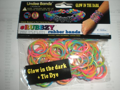 Rubbzy Neon Rainbow Glow in the Dark 100 Loose Rubber Bands