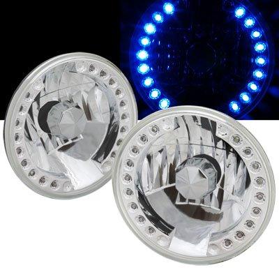 "Remix Custom 7"" Round Smdx18 Blue Led Universal Headlights"