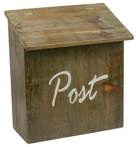 """Briefkasten aus Holz mit """"Post"""" Aufschrift thumbnail"""