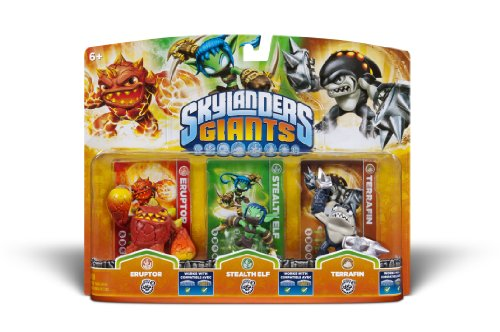Activision Skylanders Giants Triple Pack #6 (Eruptor, Stealth Elf & Terrafin) - 1
