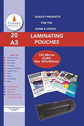 laminating-pouches-150-micron-20pk-a3