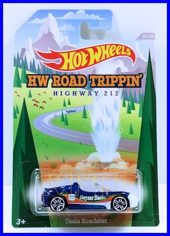 2014 Hot Wheels Hw Road Trippin' (31/32) Highway 212 - Tesla Roadster