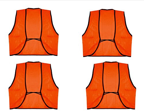 VAS 4 PACK OUTDOOR HUNTING SEASON ORANGE SAFETY VEST – DISPOSABLE ONE SIZE FITS MOST