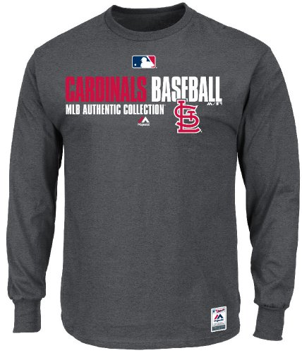 St. Louis Cardinals AC MLB Team Favorite Long Sleeve Team Issued Tee Shirt by Majestic (Medium) at Amazon.com