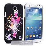 Prix Le Plus Bas Yousave Accessories SA-EA02-Z520 Coque pour Samsung Galaxy S4 Motif Floraux Papillon Noir/Argent