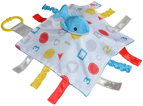 Baby Jack Blankets Baby Jack Blankets ABC Sensory Educational Whale Tag Blanket