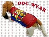 ◆愛犬服/ドッグウェア◆FCバルセロナ タンク★犬服/ペット服/小型犬/中型犬/Tシャツ/タンクトップ/パーカー
