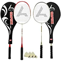 Guru Graphite BR04 COMBO-02 Badminton Racket Set Pack Of Two With Two Cover & 3 Shuttlecock Size: 27 Inch