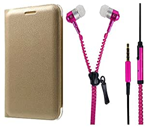 Novo Style Folio PU Leather Case Slim Cover with Stand+ Zipper Earphones/Hands free With Mic 3.5mm jack For Gionee F103 Pro