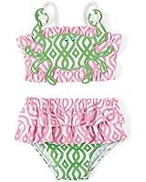 Mud Pie Little Girls Crab Bikini Swimsuit