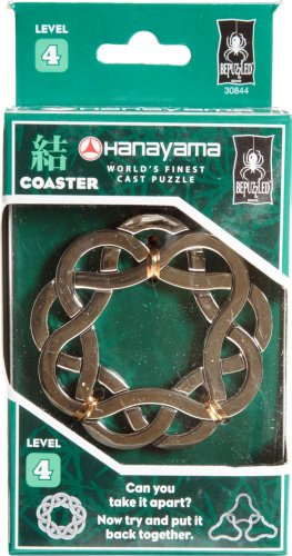 COASTER Hanayama Cast Metal Brain Teaser Puzzle (Level 4)