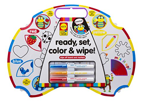 ALEX Toys Little Hands Ready, Set, Color & Wipe