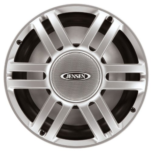 "Jensen Msw10S 10"" Marine Subwoofer, 300 Watts, Rms Power 150 Watts, Silver"