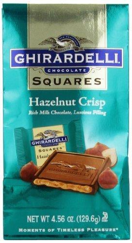 Ghirardelli Chocolate Squares, Milk and Hazelnut Crisps, 4.56 oz. by Ghirardelli