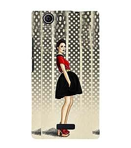 Stylish Girl Design 3D Hard Polycarbonate Designer Back Case Cover for Micromax Canvas Nitro 2 E311 :: Micromax Canvas Nitro 2 (2nd Gen)
