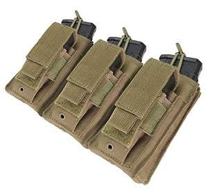 Condor MOLLE Triple Kangaroo M4 & Pistol Mag Pouch - Tan