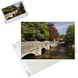Photo Jigsaw Puzzle of The old Sheepwash Bridge over the River Wye at Ashford in the Water, Peak from Robert Harding