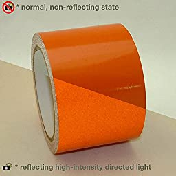 JVCC REF-7 Engineering Grade Reflective Tape: 3 in. x 30 ft. (Orange)