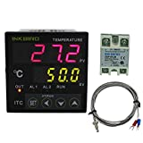 Inkbird PID Temperature Controller with Omron Relay DIN 1/16 ITC-100 (ITC-100VH+40A SSR+ K sensor)