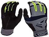 Easton HS9 Neon Batting Gloves, Grey/Navy, Medium, Medium/Grey/Navy