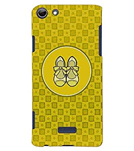 PRINTVISA Abstract Yellow Ladies Footwear Case Cover for Micromax Canvas Selfie 3 Q348