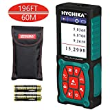 Laser Measure 196Ft, HYCHIKA Laser Distance Meter with Electronic Level Function, Accuracy ±1/16inch with Color LCD Display, 2 Laser Modules and 4 Units for m/in/ft/ft+in, 2 AA Batteries