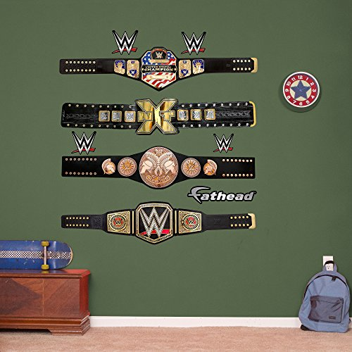 Fathead WWE Title Belts Collection Real Decals (Wrestling Belt Display Case compare prices)