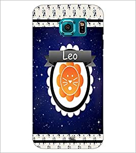 PrintDhaba Zodiac Leo D-2769 Back Case Cover for SAMSUNG GALAXY S6 EDGE (Multi-Coloured)