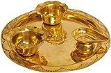 Exotic India Ganesha Puja Thali - Brass
