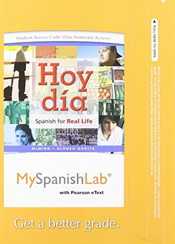 Hoy dia: Spanish for Real Life, Volume 2, Books a la Carte Plus MySpanishLab -- Access Card Package, by John T. McMinn, Nuria Alonso Garc&