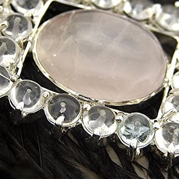 AKT Scavenger's Find Rose Quartz Feathered Necklace (Heart Chakra)