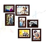 Victory Set Of 7 Brown Wall Photo Frame - 7 Individual Photo Frame