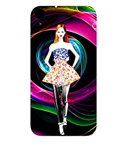 ANIMATED WESTERNISED GIRL 3D Hard Polycarbonate Designer Back Case Cover for HTC Desire 830::HTC Desire 830 dual sim