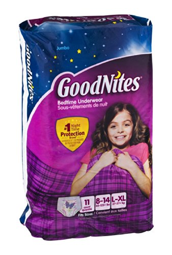 GoodNites Bedtime Underwear Girls L/XL 11 CT (Pack of 8) - 1
