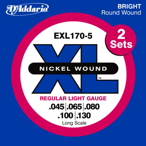 D'Addario EXL170-5TP Nickel Wound Bass Guitar