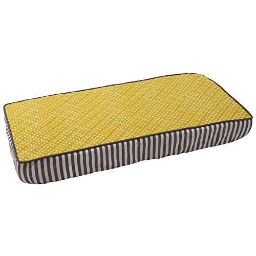 Bacati - Dots/pin Stripes Yellow Pin Dots Changing Pad Cover