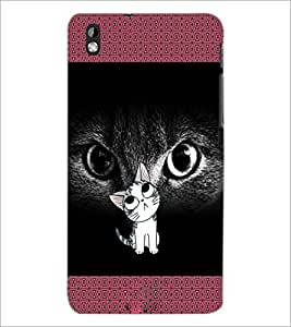 PrintDhaba Kitty D-2468 Back Case Cover for HTC DESIRE 816 (Multi-Coloured)
