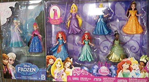 ディズニープリンセス マジッククリップ8体セット アナと雪の女王 アナ エルサ アリエル ラプンツェル ベル シンデレラ ティアナ メリダ