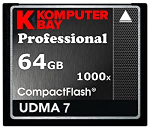KOMPUTERBAY 64GB Professional COMPACT FLASH CARD CF 1000X 150MB/s Extreme Speed UDMA 7 RAW 64 GB