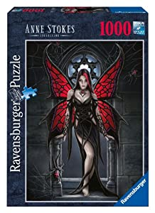 Ravensburger - 19161 - Puzzle - Anne Stokes, Gothic Butterfly - 1000 pièces