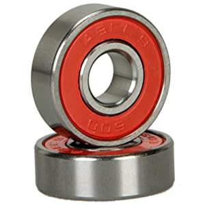Click here to buy 8 Pcs Abec 9 Durable Titanium & Stainless Steel Sporting Goods Skateboard Bearings Red by MicroMall.