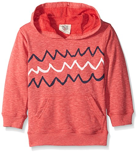 Wes and Willy Big Boys Blended Wave Hoodie, Cherry Blend, 4