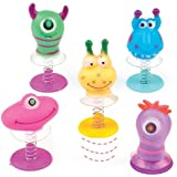 Monster Jump-Ups 6 Assorted Party Bag Fillers for Boys & Girls, Children's Prizes- Pack of 6
