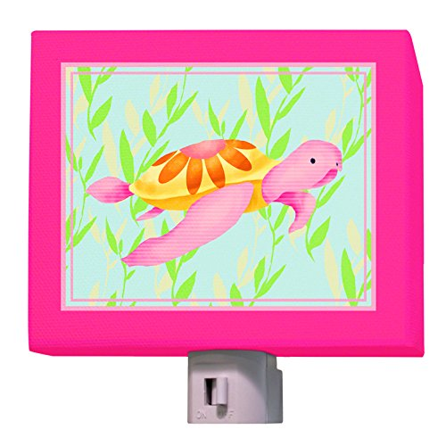 "Oopsy Daisy Maggie The Sea Turtle Night Light, Pinkgreen, 5"" X 4"""