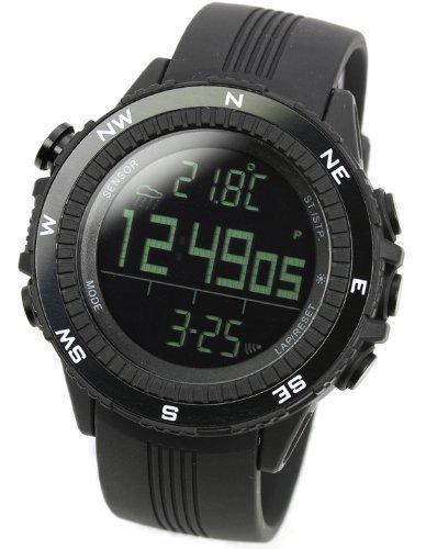 Lad-Weather-Mens-Digital-Quartz-Black-German-Sensor-Sport-Watch
