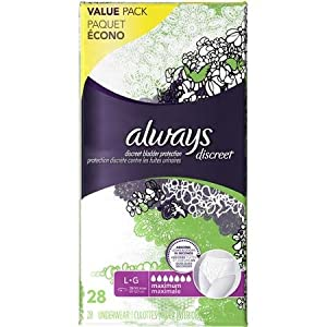 Always Discreet Incontinence Underwear, Maximum Absorbency, Large