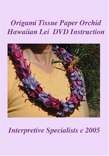 Origami Tissue Paper Orchid Hawaiian Lei DVD Instruction